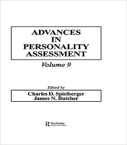 amazon com advances in personality assessment volume 9 advances