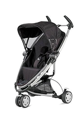 Quinny Zapp Xtra Buggy, superleicht, mit komfortabler Ruheposition, inkl. Einkaufskorb, Sonnen- und Regenverdeck, Sonnenschirmclip, Adapter für die Babyschale, rocking black