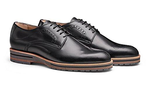 MORAL CODE Men's Leather Oxford Shoe Mayson Black Leather 12 M US Men ()