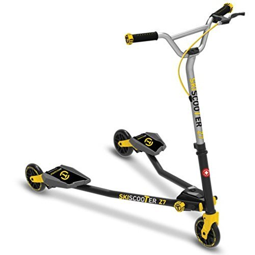 Scooter Kids/Adult Drifting Scooter Trike (Yellow) - three wheeled carving scooters - Kick Scooters