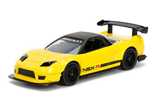 - JADA 1/64 METALS JDM TUNERS 2002 HONDA NSX TYPE-R JAPAN SPEC WIDEBODY YELLOW DIECAST TOY CAR IN BLISTER PACK