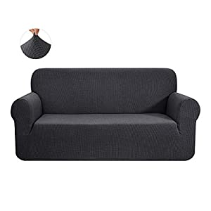 CHUN YI 1 Piece Jacquard Sofa Covers Stretch Fabric Settee cover Furniture Protector for Loveseat, 2 Seater Sofa…