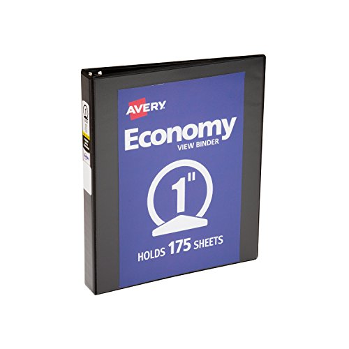 Avery Economy View Binder with 1-Inch Round Ring, Black (05710) ()