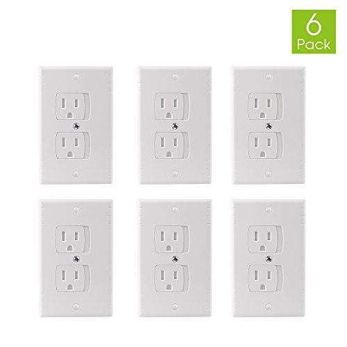 Glolux Safety Electrical Outlet Cover Baby Proofing Wall Outlet Cover Plate (Pack of 6)