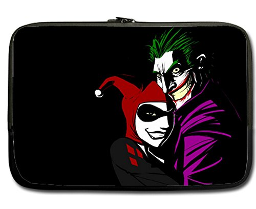 Joker and Harely Quinn Print Neoprene Apple MacBook Pro 17 inch Notebook Laptop Sleeve Case Cover Pouch
