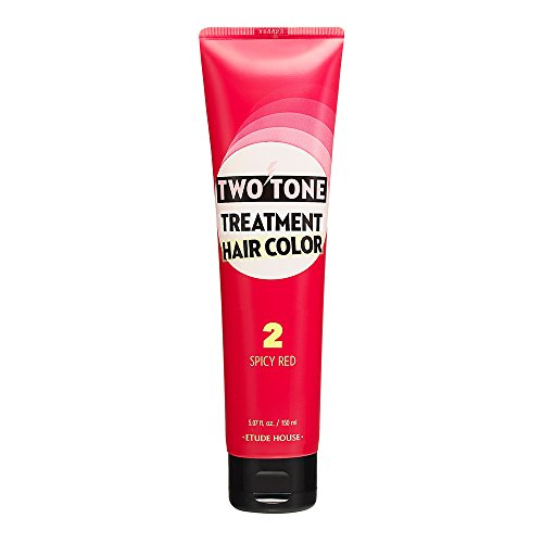 Etude House Two Tone Treatment Hair Color 150ml (#02 Spicy Red)