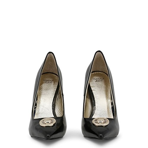 amp; Pumps Versace Black Women Black Jeans Heels wnfftr0Iq
