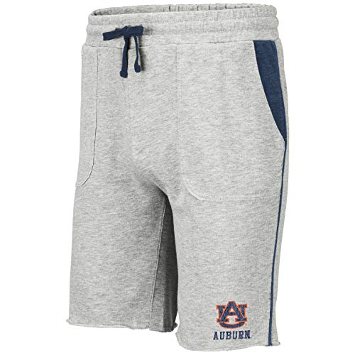 Colosseum NCAA Mens Cutoff Athletic Training Gym Shorts-Heather Grey-Auburn Tigers-XL