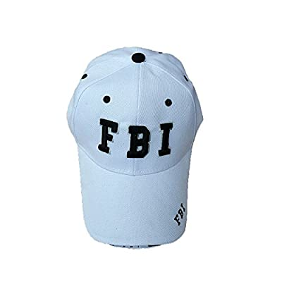 FBI Embroidered Baseball Caps, White or Black