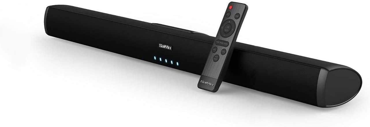 Barra de sonido para televisor, SineAudio con cable e inalámbrico, 60 W, Bluetooth 5.0-TV, altavoz estéreo Soundbar de 32 pulgadas, sistema de sonido envolvente de cine en casa