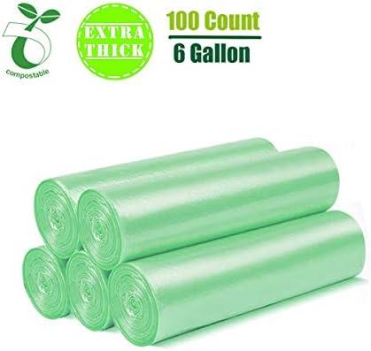 Bolsas de basura biodegradables de 5 galones, bolsas de basura ...