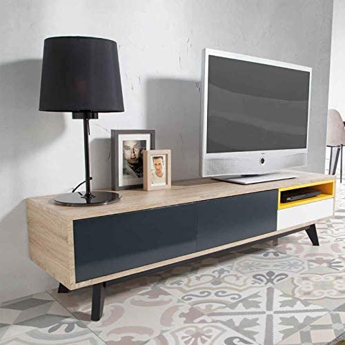 Mueble de TV moderno color roble Selena: Amazon.es: Hogar