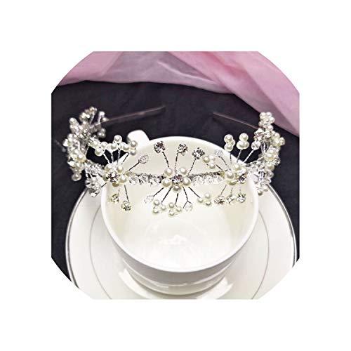 Headwear Bridal Crystal Crown Tiaras Light Gold Diadem Women Bride Wedding Hair Jewelry Accessories - Crystal Light Nine Tiara