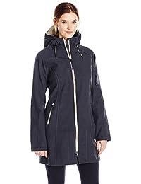ILSE JACOBSEN Women's Tall/Plus-Size Water-Resistant Two-Tone Rain Jacket