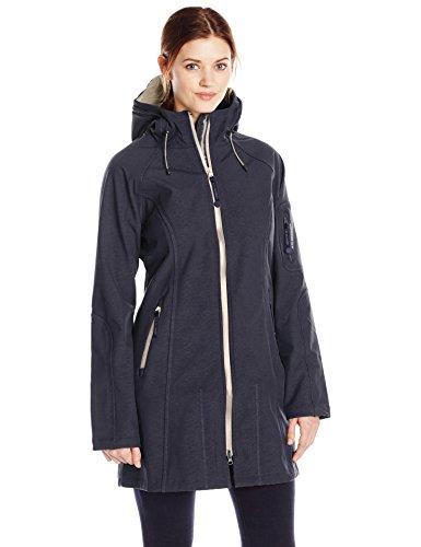 ILSE JACOBSEN Women's Plus-Size Rain 37B Two-Tone Jacket, Indigo Atmosphere, 38