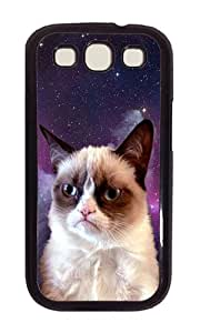 Samsung S3 Case,VUTTOO Stylish Grumpy Space Cat Hard Case For Samsung Galaxy S3 I9300 - PC Black