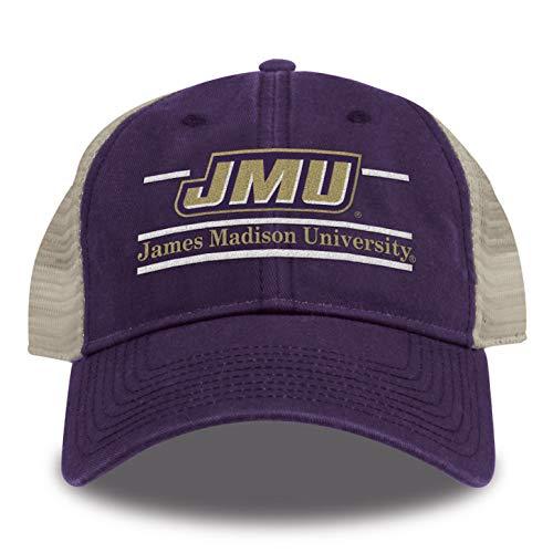 (The Game Split Bar Design Trucker Mesh Hat, Purple, Adjustable)