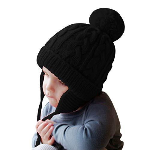 c38b35688 Amazon.com: IBLUELOVER Kids Knit Hat Ear Flap Winter Beanie Hats ...