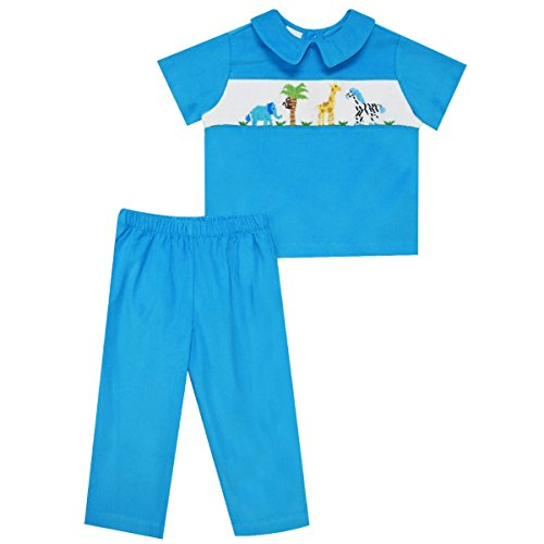 [Zoo Smocked Boys Pull On Pant] (Smocked Zoo)