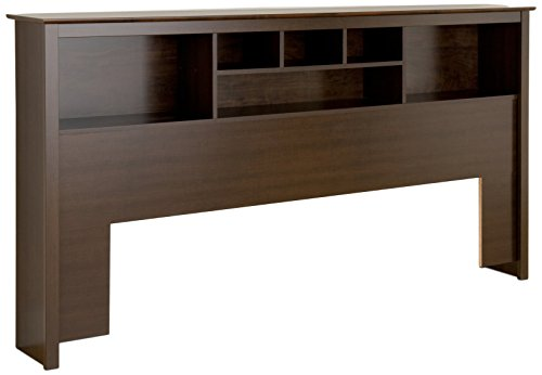 Prepac King Bookcase Headboard, Espresso