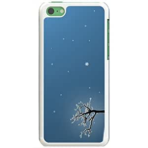 Diy Yourself Apple iPhone 5 5s case covers Customized Gifts Of 4vx3c520gkT 3D Graphics last winter tree 3D Abstract White