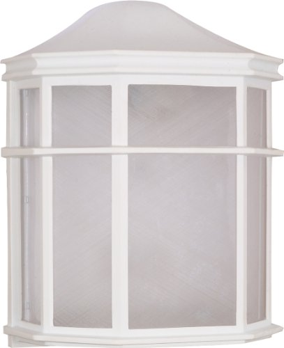 Nuvo Lighting 60/581 Bulkhead 1-Light Cage Lantern Energy Star CFL, White
