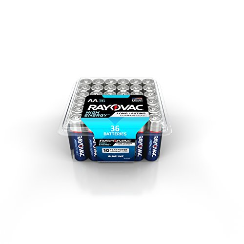 RAYOVAC AA 36-Pack HIGH ENERGY Alkaline Batteries with Recloseable Lid, 815-36PPK by Rayovac