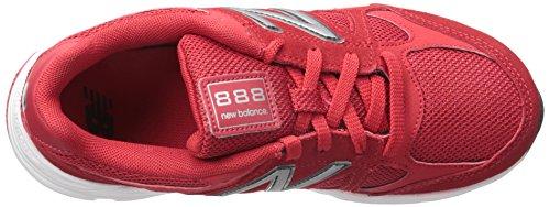 New Balance KJ888V1 Grade Running Shoe (Big Kid) Red/black