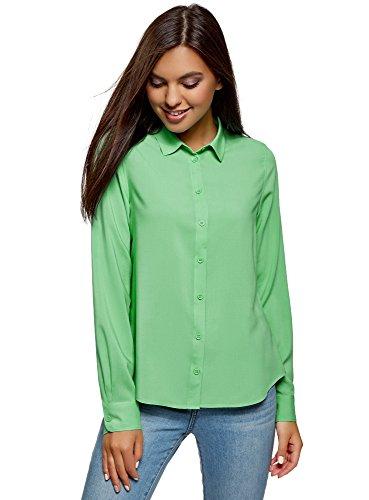 Mujer Ultra Oodji Viscosa Básica Blusa De Verde 6500n fTppqWn