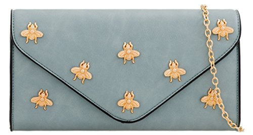 Bag HandBags Flies Girly Blue Clutch Bag HandBags Flies Clutch Girly wg1qXHEw