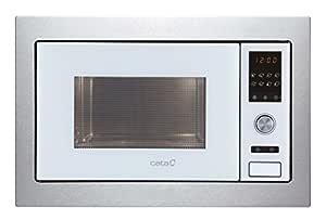 Cata Encastrable | MC 28 D WH 28 litros | 5 Niveles de Potencia | Microondas con Grill | Interior Acero Inoxidable | Color Blanco, 900 W, Vidrio