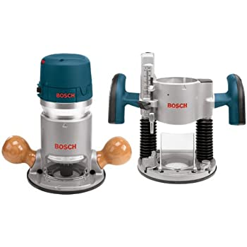 Bosch 1617EVSPK 12 Amp 2-1/4-Horsepower Plunge and Fixed Base Variable Speed Router Kit with 1/4-Inch and 1/2-Inch Collets