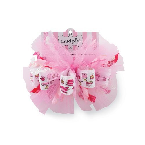 Mud Pie Baby-girls Newborn Birthday Hair Bow Pink One Size for $<!--$9.99-->