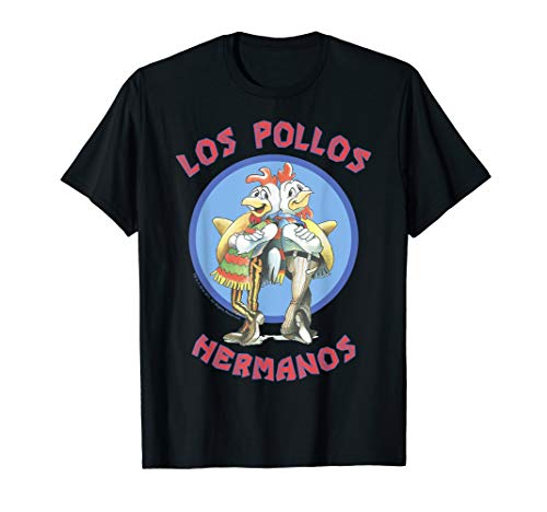 Breaking Bad Los Pollos Hermanos Back To Back Portrait Logo T-Shirt (Breaking Bad Women Tshirt)