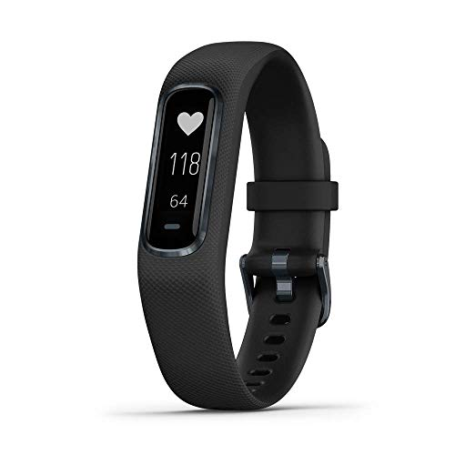 Garmin vívosmart 4, Activity and Fitness Tracker w/Pulse Ox and Heart Rate Monitor, Midnight w/Black Band, Large (Renewed)