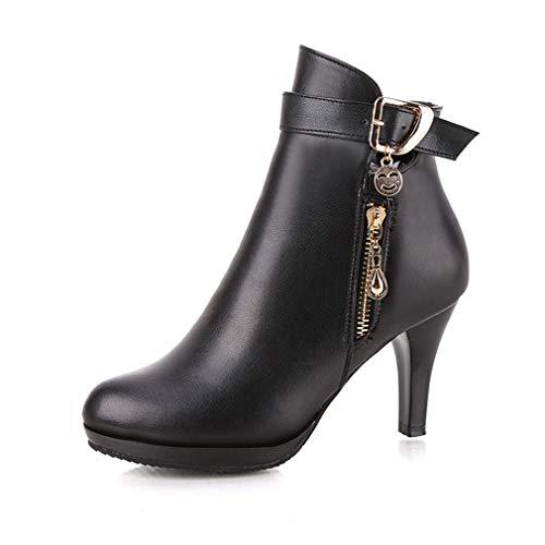 Otoño Botas Aguja Fiesta Zapatos Botines De Impermeable Tacón Negras Noche Yan Y Plataforma Invierno Mujer Sexy Bodas Moda Negro Martin Para nSzYqqda