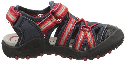 Geox JR SANDAL KYLE C - Sandalias de vestir de material sintético para niño azul - Blau (NAVY/REDC0735)