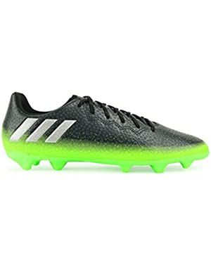 Kids Messi 16.3 FG/AG Dark Grey/Silver Metalic/Solar Green Soccer Shoes