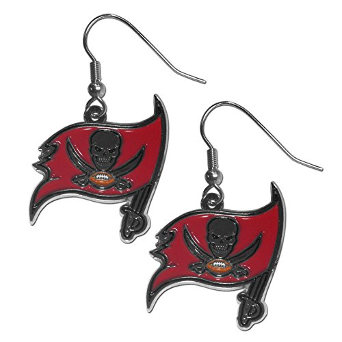 NFL Tampa Bay Buccaneers Chrome Dangle Earrings - Tampa Bay Buccaneers Dangle Earrings