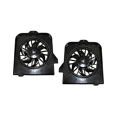 Radiator Fan Shroud Assembly Set of 2 compatible with 2003-2004 Chrysler Town & Country Right
