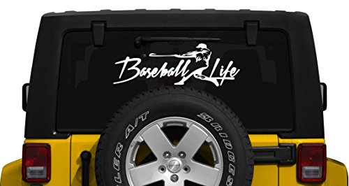 Baseball Life Window Decal Graphic Sticker Deco Car Jeep Suv Van LapTop Ipad (Vans Snowboard Stickers)