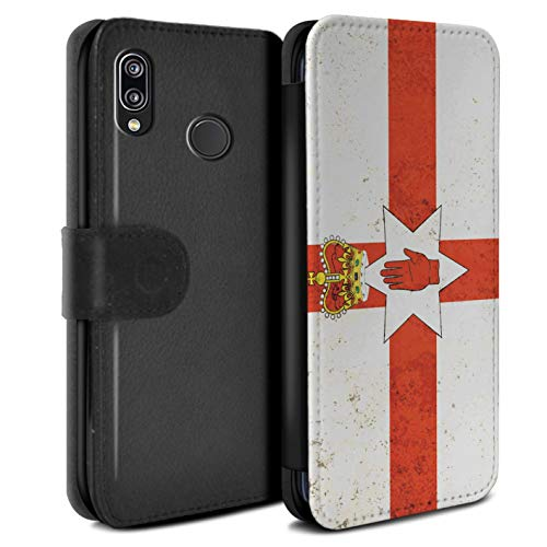 (eSwish PU Leather Wallet Flip Case/Cover for Huawei P20 Lite/Northern Ireland Design/Flags Collection)