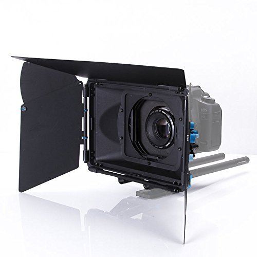 FOTGA DP3000 M3 PRO Swing-away Matte Box Sunshade for Quick Lens Change 15mm Rod DSLR Rail Support Rig System with Donuts, Filter Trays, French Flags, Side Wings