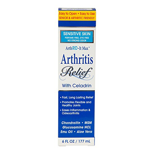ArthRID-It Max Arthritis Relief Sensitive Skin, 6 Oz, Fast & Long-Lasting Relief, Promotes Flexible and Healthy Joints, Eases Inflammation & Osteoarthritis, made with Celadrin, 2.5 % Menthol
