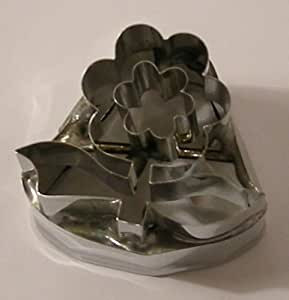 Molde para cortar verduras y carne - Acero inoxidable - Forma de flor de loto - 3 cm de largo - Calidad garantizada