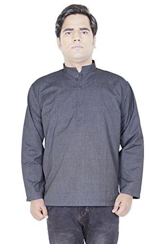 mens-cotton-stand-collar-shirt-kurta-casual-solid-long-sleeve-yoga-shirt-size-xl