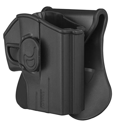 Taurus PT111 G2 Holster OWB, Tactical Pistol Holster for Taurus Millennium G2 PT111 PT132 PT138 PT140 PT145 PT745, Polymer Outside Waistband Paddle Holsters with Carry Adjustable Cant, Black-RH