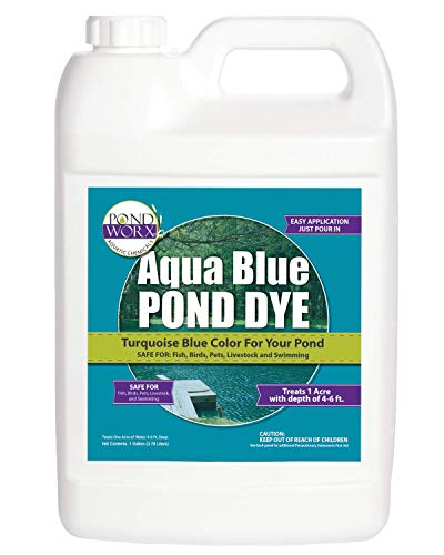 PondWorx Lake and Pond Dye- Aqua Blue Pond Dye - 1 Gallon ()