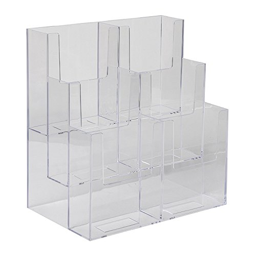 Dazzling Displays 3-Tier, 6-Pocket 4 x 9 Tri-Fold Brochure Holder