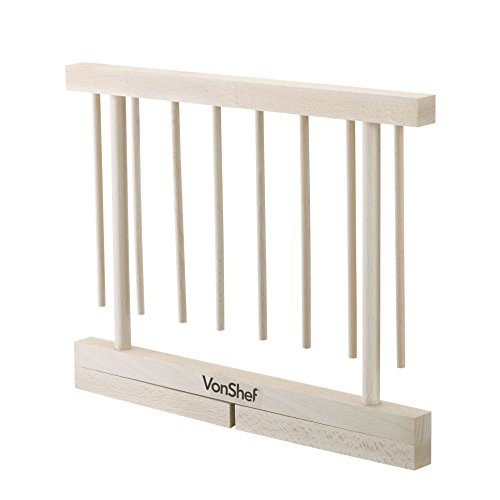 VonShef Collapsible Wooden Pasta and Spaghetti Drying Rack Stand, Natural Beechwood, by VonShef (Image #2)